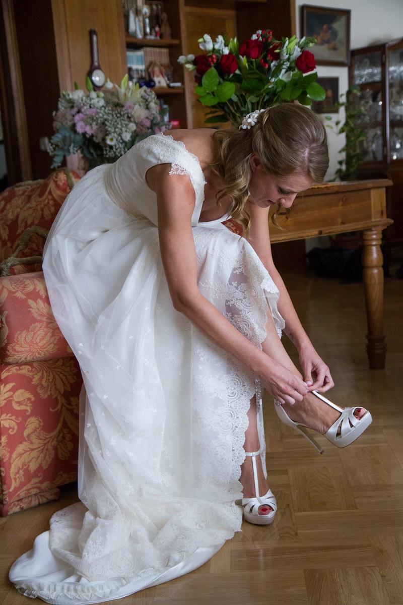 el vestido de novia de María de estilo vintage realizado en el atelier de Beatriz Alvaro, todos los detalles en el blog de bodas