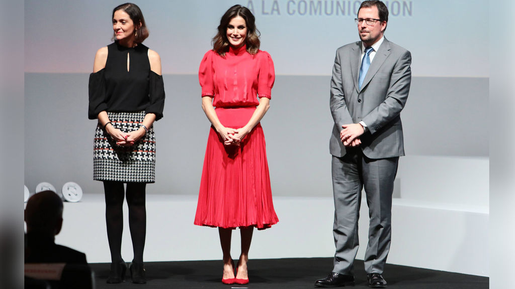La reina Letizia presidió la V edición de los Premios Nacionales de la Industria de la Moda, y la diseñadora Beatriz Alvaro no faltó a la cita